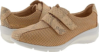 24 Horas 24 Hours 24420 Leather Trainers with Velcro Closure Size: 7 Color: Chestnut