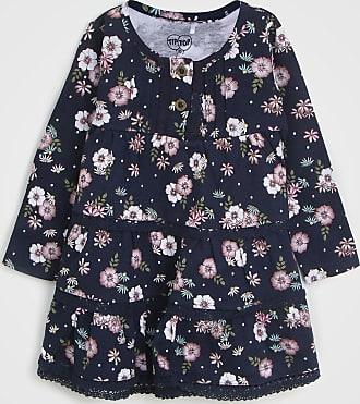 Tip Top Vestido Tip Top Infantil Floral Azul-Marinho
