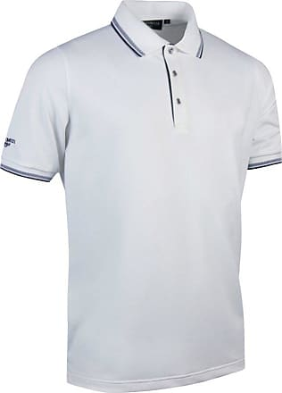 Glenmuir Mens Tipped Short Sleeve Moisture Wicking Polo Shirt (XL) (White/Navy)