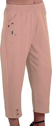 Eyecatch Women Capri Crop Pants Flexi Stretch Plus Sizes Ladies 3/4 Trousers Stone Size 20