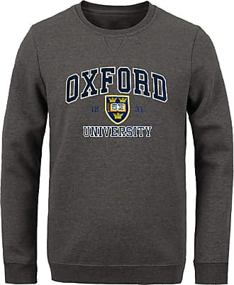 Oxford University Official Licensed Applique Sweatshirt (X-Large, Charcoal)