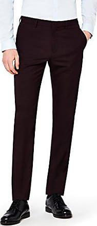 Pantalon de Costume D/écontract/é Slim Homme Rouge Burgundy W34//L33 find