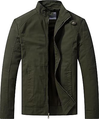 WenVen Mens Lightweight Military Jackets Army Green X-Large