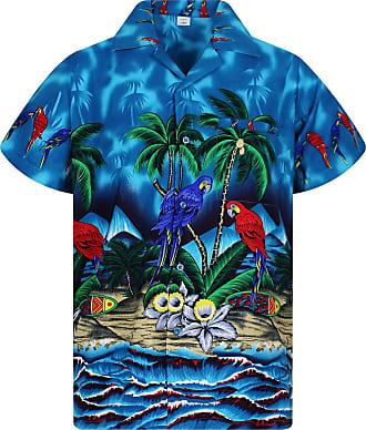 V.H.O. Funky Hawaiian Shirt, Parrot Turkis, 4XL