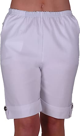 Eyecatch ETA Womens Elasticized Flexi Stretch Ladies Shorts Plus Sizes White Size 24