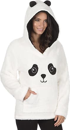 Forever Dreaming Ladies Animal Novelty Print Soft Fleece Hooded Snuggle Top