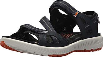 Ecco Mens Terra Hiking Sandals, Blue True Navy Orange, 7.5 UK