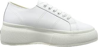 Superga 2287-LEANAPPAW, Womens Low Flatforms Flatforms, White (White 900), 6.5 UK (40 EU)