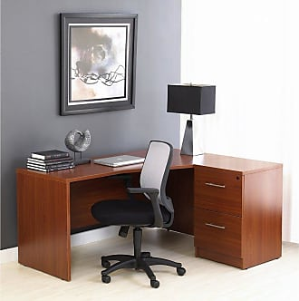Unique Furniture 100 Series L-Shaped Right Desk and Filing Cabinet - 100COMBO15-ESP