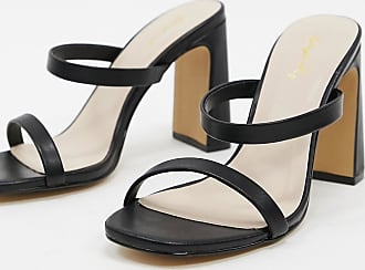 Qupid Qupid strappy heeled mules in black