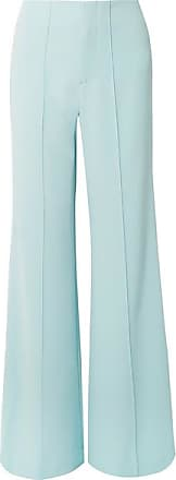 Alice & Olivia Dylan Crepe Wide-leg Pants - Sky blue