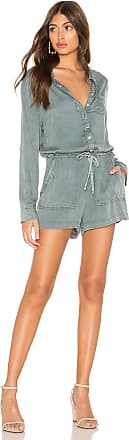 Chaser Snap Front Collared Romper in Gray