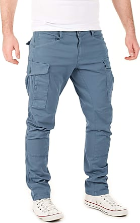 Yazubi Mens Casual Cargo Trousers Chino Jayden Chino Men Casual Cargo Pants Slim Fit Jogger Skinny, Turquoise (Turbulence 194215), W32/L30