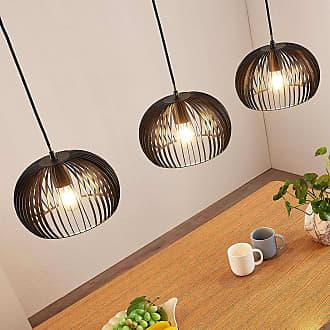 Lindby Lámpara colgante Jusra de metal negro, 3 bombillas
