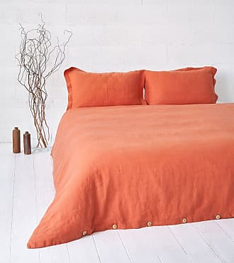 Dreamon Flax Bedding Set Red Curry