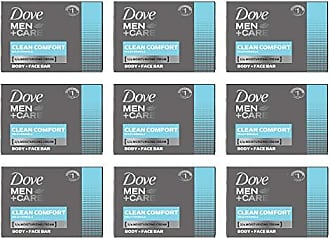 Dove Men+Care Body and Face Bar, Clean Comfort, 4 Ounce (Pack of 9)