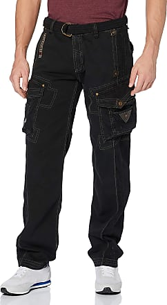 Geographical Norway Mens Perle Pant Trousers, Black, Manufacturer Size:Large (41 UK)