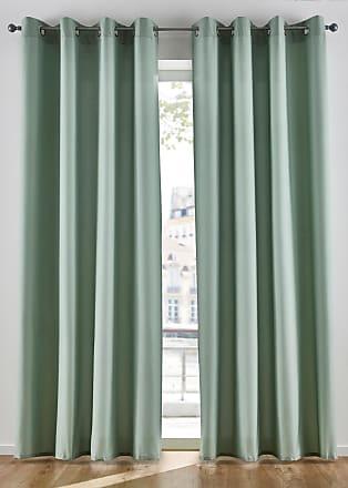Bonprix Mikrofaser Vorhang (2er Pack) grün, bonprix