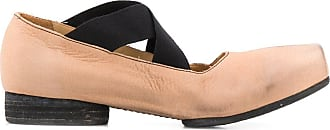 Uma Wang distressed pointe flat shoes - PINK