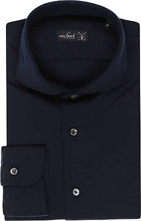 Van Laack Slim Fit Jerseyhemd navy, Einfarbig