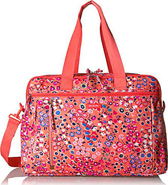 Vera Bradley Womens Lighten up Weekender Travel Bag, Coral Meadow