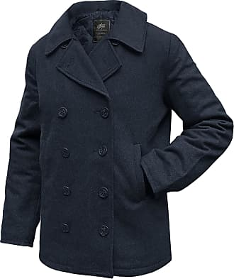 Alpha Industries Pea Coat USN navy, Größe S