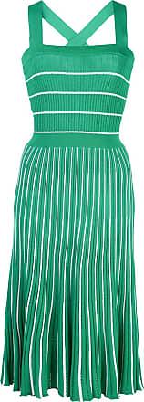 Alexis Vestido sem manga gola quadrada com estampa de listra - Verde