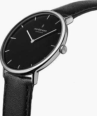 Nordgreen Native | Black Dial - Black Leather - 32mm / Rose Gold