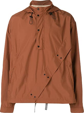 Qasimi boxy button hoodie - Brown