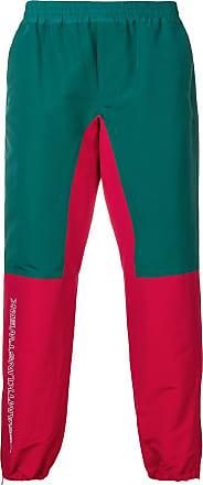 JohnUndercover Calça esportiva color block - Verde