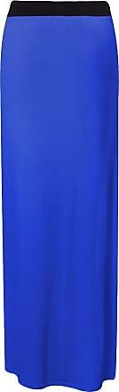 Top Fashion18 Ladies Plus Womens Plain Stretch Elasticated Ladies Full Long Maxi Skirt 8-26 Royal Blue