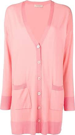 daaeed0dfd700d Twin-Set fine knit longline cardigan - Pink