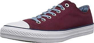 Converse Chuck Taylor All Star Color Blocked Low TOP Sneaker, Dark Burgundy/Washed Denim, 7.5 M US