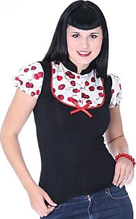 SugarShock Aulia 50s retro Polka Dots Rockabilly Longsleeve Shirt
