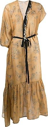 Giacobino Vestido assimétrico com aplicação - Marrom