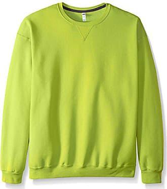 Fruit Of The Loom Mens Fleece Crew Sweatshirt, Citrus Green, XX-Large