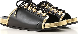 babf146eb7a Balmain Sandals for Women On Sale in Outlet, Black, Leather, 2017, 36