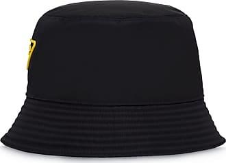 Prada Chapéu com patch de logo - Preto