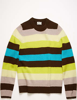 Acne Studios FN-MN-KNIT000145 Yellow multi Striped sweater