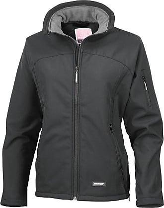 Result Ladies/Womens La Femme Softshell Breathable Jacket (2XL) (Black & Contrast Collar)