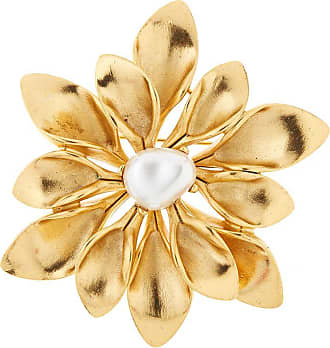 Oscar De La Renta Coral Branch brooch - GOLD