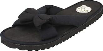 Spot On Bow Trim Mule / Brushed EVA Insole - Black Manmade - UK Size 5 - EU Size 38 - US Size 6