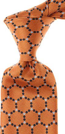 Isaia Ties On Sale, Persimmon Orange, Silk, 2017, one size