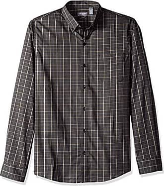 60616c131621 Van Heusen Mens Slim Fit Flex Stretch Non Iron Shirt, Black Stripe, XX-