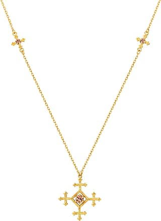 Zoe & Morgan Sura Halskette Braun Zirkon Gold - one size | gold plated sterling silver | gold | brown - Gold/Gold