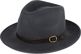 Hat To Socks Grey Wool Fedora Hat with Suede Belt Handmade in Italy