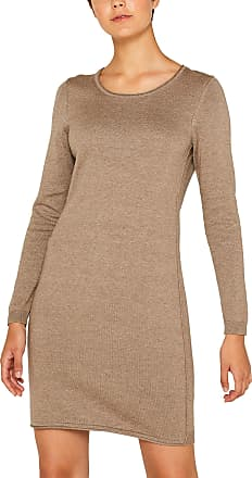 EDC by Esprit Womens 089cc1e001 Dress, Brown (Taupe 5 244), X-Large