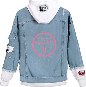EmilyLe Ladies Love Yourself Hoodie Kpop BTS Map of The Soul Persona Jeans Outerwear Jin Suga J-Hope RM Jimin V Jung Kook (XL, 1 White O)