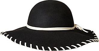 6d667ee746342 San Diego Hat Company Womens 4.25 Wool Floppy Hat Contrast Stitch Brim