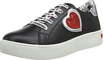 a965d0e9df3a9 Love Moschino Scarpad.cassetta35, Chaussures de Gymnastique Femme,  Multicolore (Nero Argento